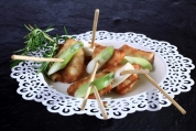 Yakatori and Spring Onion Skewers