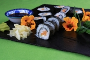 Nori Rolls with Wasabi and Smoked Salmon