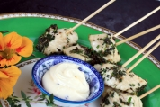 Herb Grilled Chicken Skewers with Aioli